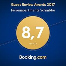 Auszeichnung und Bewertung von Booking.com