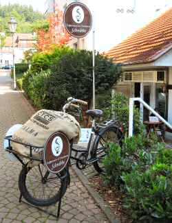 Eingang zur Kaffeerösterei in Bad Lauterberg